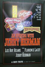 """An Evening with Jerry Herman Theater Broadway Window Card Poster 14"""" x 22"""""""