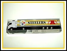 HO Scale _ Pittsburgh Steelers _ VOLVO (white v4) _ Tractor Trailer