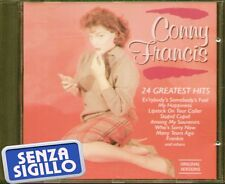 """CONNIE FRANCIS """" 24 GREATEST HITS """" CD NUOVO  BARCODE 5701861870829"""