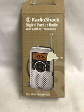 Radio Shack Digital AM/FM Pocket Radio Tested-Works Good!! 1201475