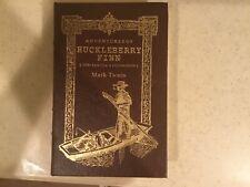 Leather Bound Mark Twain The Adventures of Huckleberry Finn HARDCOVER Book
