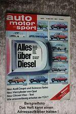 AMS Auto Motor Sport 6/79 Citroen Visa Audi Coupe VW Allrad Bus BMW R 65