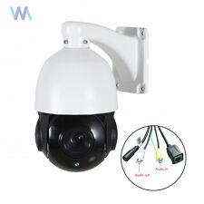 4.5'' 30X Zoom 1080P 2.0 MP Outdoor PTZ IP Speed Dome Camera IR Night Audio Cam