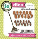 Fall Leaves & Rake American Made Steel Die by Impression Obsession DIE201-K New