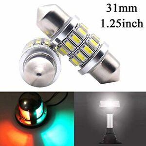 31mm Marine LED Festoon Bulb For Perko Navigation Light Boat Light Bulbs 2 PCs