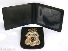 Portafoglio con placca estraibile GUARDIA GIURATA Vigilanza Privata in pelle