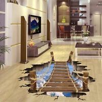 3D Floor/ Wall Sticker Removable Bridge Mural Decal Vinyl Art Living Room Decor
