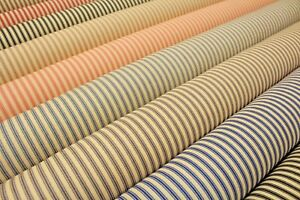 """100% Cotton Canvas Classic 5mm Ticking Stripes 10 Colours 45"""" Wide High Quality"""