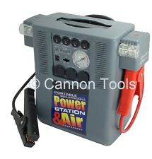 HEAVY DUTY 12V 24V PORTABLE BATTERY CAR JUMP STARTER & INVERTER AIR COMPRESSOR