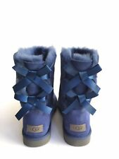 UGG BAILEY BOW II DARK DENIM WATER RESISTANT WOMEN BOOT US 8 / EU 39 / UK 6