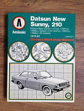 MINT UNUSED DATSUN NEW SUNNY, 210 1978 - 1982 AUTOBOOKS WORKSHOP MANUAL