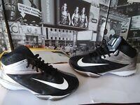 NEW MEN'S 15 NIKE VAPOR PRO 3/4 NUBBY FOOTBALL Lacrosse 527878 Black WHITE Turf
