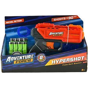 Adventure Force Hypershot Foam Dart Blaster (Recoil Action, 8 Darts 8+, READ)