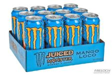 Monster Juiced Mango Loco Energy Drink 500ml x 12 Cans