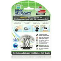 SinkShroom Ultra Stainless Steel Hair Catcher - From the Makers of TubShroom