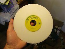 Nos Norton 38a60 K8vbe 8 X 12 X 1 14 White Aluminum Oxide Grinding Wheel Usa