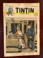 Journal Tintin belge n°11 du 5/12/46 (couv. Saint Nicolas) 1ère année - TBE!