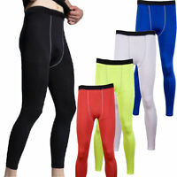 Men Under Base Layer Pants Thermal Compression Legging Gym Sports Tight Trousers