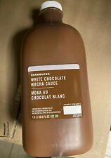 Starbucks White Chocolate Mocha Sauce Coffee Flavoring Syrup 50.5oz NEW SEALED