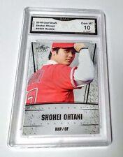 Shohei Ohtani 2018 Leaf Draft Silver #DS01 GMA Graded 10 Angels Baseball Rookie