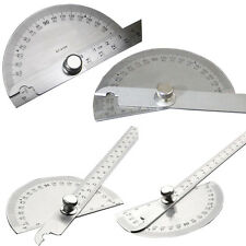 1Pcs Stainless Steel Ruler Rotating Protractor Measuring Round Head 180 Degree
