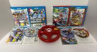 Mario Kart 8 Wii Wheel Complete + Super Mario Smash Bros 3D Land Wii U Bundle