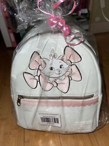 LOUNGEFLY DISNEY ARISTOCATS MARIE RIBBON MINI BACKPACK~ WITH TAGS~BRAND NEW~