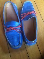The Original Car Shoe Blue Leather Driving Loafer Men's 9 pre owned