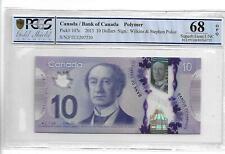 CANADA 2013 10 DOLLARS Pick#107c PCGS 68 SUPERB GEM UNC OPQ NOT PMG