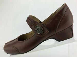 Josef Seibel Cara Dress Pumps Brown Leather Adjustable Strap Womens Size 41 US 9