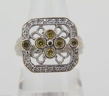 Cluster White Gold 14k Fine Rings