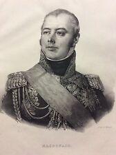 Maréchal d' Empire Étienne Macdonald Napoléon Duc de Tarente Courcelles-le-Roy