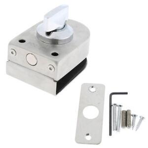 Glass Door Lock Keyless Stainless Steel Latch- Type Glass Door Window Lock