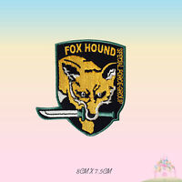 Fox Hound Metal gear Embroidered Iron On Sew On Patch Badge For Clothes etc