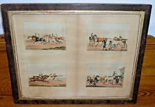 Vintage Four Prints Of Horse Racing By Henry Alken