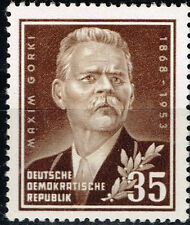 Germany Famous Russian Writer Maxim Gorki stamp 1953 MLH