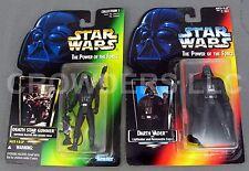 Star Wars PotF Red Card Darth Vader & Green Card Death Star Gunner Kenner '95/96