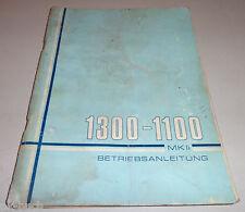 Instrucciones Servicio Manual Austin Morris Vanden Plas 1300-1100 Mk II Alemán