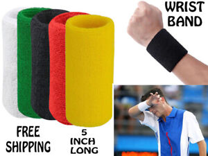 HEXA PRO Sports Wrist Sweatbands Unisex Wristband  Tennis Squash Badminton Gym