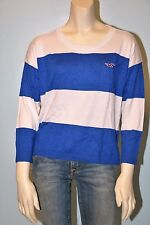 Hollister By Abercrombie Women Bold Stripe Sweater NwT Large
