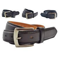38mm Set Of Milano Brand New Leather Belts OFFER UK Handmade Trouser Belts