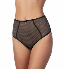 Panache Black Label Esme Semi-sheer Mesh Lined Highwaist Brief Panty Underwear