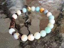 Amazonite Wrist Mala beads Chakra Balancing stretch Bracelet