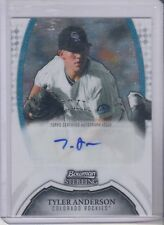 2011 Bowman Sterling Tyler Anderson Prospects Autograph Colorado Rockies
