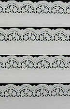 10 x WHITE PAPER LACE DOILY BORDERS/TRIMS EMBOSSED FOR CARDS, ARTS, CRAFTS