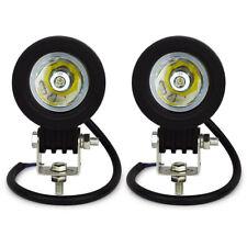 Safego 2X 10W LED WORK LIGHT Spot Beam Driving Fog Lamp Motorcycle Boat ATV Bar