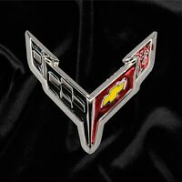 2020 Corvette C8 Crossed Flags Lapel Pin 688003