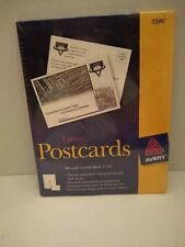 """New listing New Box Of Avery Postcards 100 Cards Laser 4"""" X 6"""" #5389"""