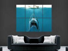 JAWS SHARK HUGE LARGE WALL ART POSTER PICTURE G135