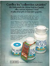 Publicité Advertising 1972 La Crème fraiche d'Isigny par Claudel